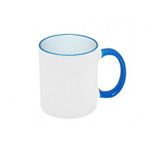 Two Tone Blue Ceramic Mug